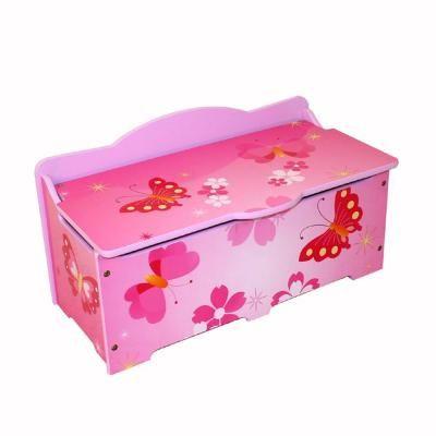 Játéktároló láda, pillangó, rózsaszín - PAPILLON